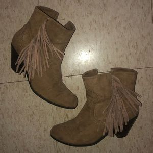 Size 7 Brown/Tan Boots from Maurices
